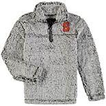 Girls Youth Gray Syracuse Orange Sherpa Super-Soft Quarter-Zip Pullover Jacket