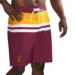 Men's G-III Sports by Carl Banks Wine/Gold Cleveland Cavaliers Interception Swim Trunks