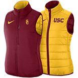 Women's Nike Gold/Cardinal USC Trojans Shield Puffer Reversible Full-Zip Vest