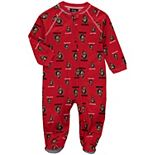 Infant Red Ottawa Senators Team Print Raglan Zip Coverall