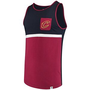 Men's Fanatics Branded Navy/Wine Cleveland Cavaliers Color Block Pocket Tank Top