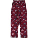Youth Burgundy Colorado Avalanche Team Logo Printed Pajama Pants