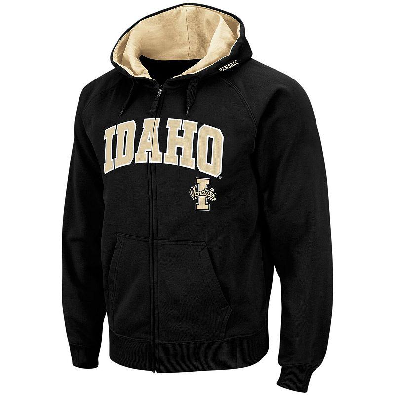 Men's Colosseum Black Idaho Vandals Arch & Logo Full-Zip Hoodie, Size: Small