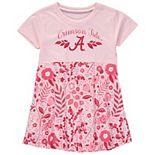 Girls Toddler Wes & Willy Crimson Alabama Crimson Tide Floral Print Tri-Blend Dress