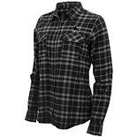 Women's Antigua Black/Gray San Jose Sharks Stance Plaid Button-Up Long Sleeve Shirt