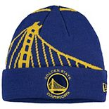 Youth New Era Royal Golden State Warriors Logo Whiz Cuffed Knit Hat
