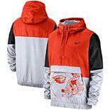 Men's Nike Orange Oregon State Beavers Colorblock Anorak Quarter-Zip Jacket