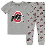 Toddler Heathered Gray Ohio State Buckeyes T-Shirt & Pants Sleep Set