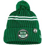 Youth New Era Kelly Green Boston Celtics 2019 NBA Draft Cuffed Knit Hat