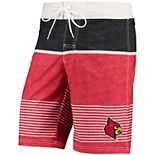Men's G-III Sports by Carl Banks Red/Black Louisville Cardinals Double Play Swim Trunks