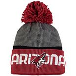 Men's Reebok Gray/Garnet Arizona Coyotes Center Ice Cuffed Knit Hat with Pom