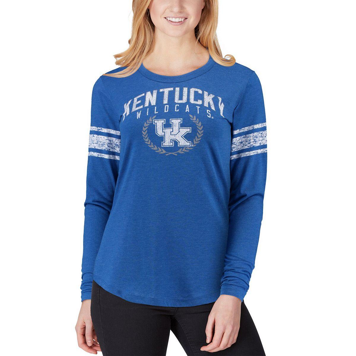 Women's Top of the World Royal Kentucky Wildcats Favorite Laurels Long Sleeve T-Shirt DH4Sw