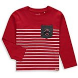 Toddler Garb Scarlet Ohio State Buckeyes Gus Striped Long Sleeve Pocket T-Shirt