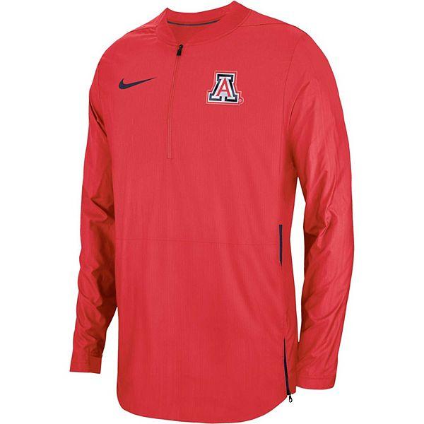 Men's Nike Red Arizona Wildcats 2018 Sideline Lockdown Half-Zip Jacket