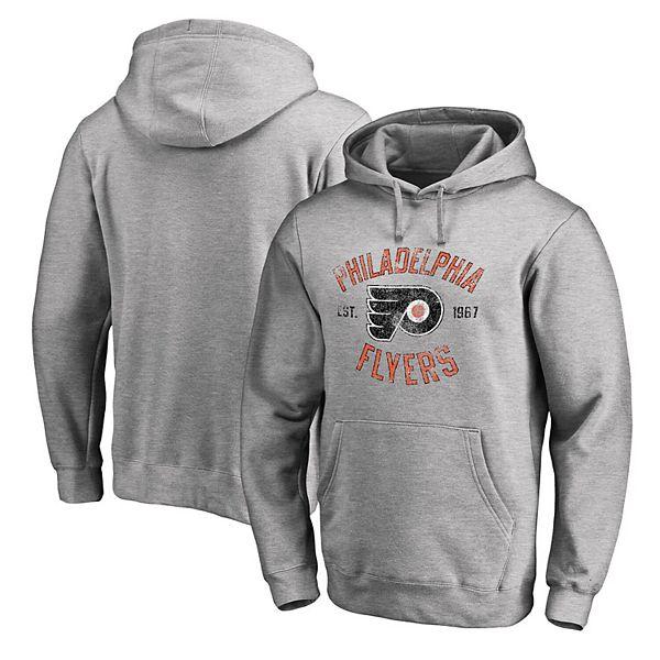Men's Gray Philadelphia Flyers Vintage Heritage Pullover Hoodie