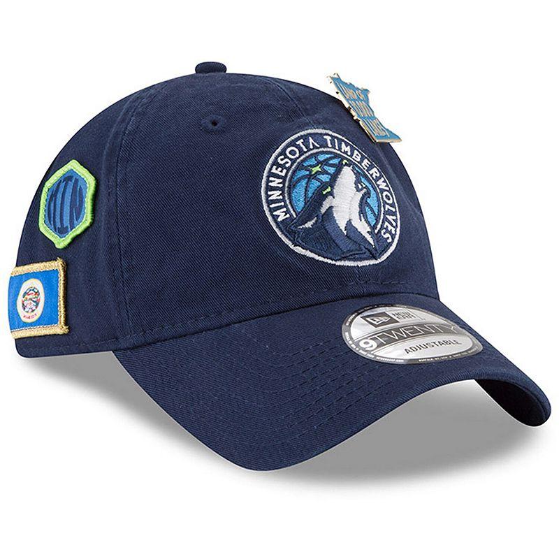 Men's New Era Navy Minnesota Timberwolves 2018 Draft 9TWENTY Adjustable Hat, Blue