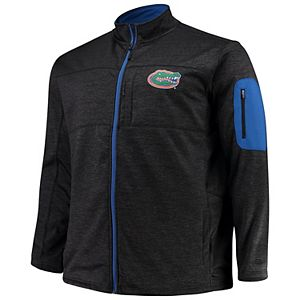Men's Colosseum Heathered Gray Florida Gators Sitwell Sublimated Quarter Zip Pullover Jacket