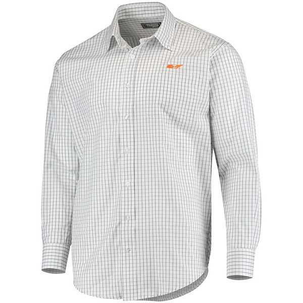 Men's Gray Tennessee Volunteers Southern Collegiate Game Day Tattersall Button-Up Dress Shirt