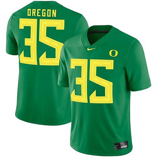 Men's Nike #35 Green Oregon Ducks Game Jersey