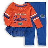 Girls Preschool Orange/Royal Florida Gators Mini Formation Long Sleeve T-Shirt & Pants Set