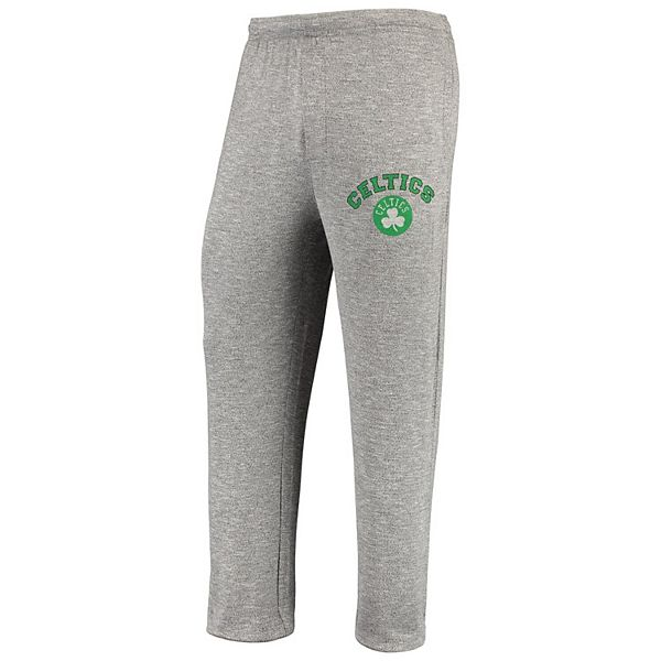 Men's Concepts Sport Heathered Gray Boston Celtics Tri-Blend Layover Knit Pants