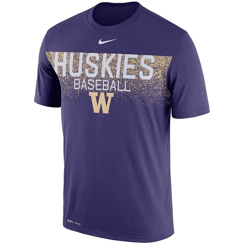 Men's Nike Purple Washington Huskies 2018 Baseball Team Issue Legend Performance T-Shirt, Size: XL