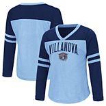 Girls Toddler Colosseum Navy Villanova Wildcats Bobo Long Sleeve V-Neck T-Shirt
