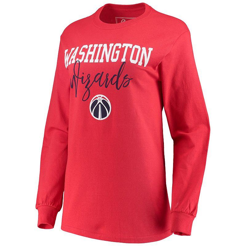 Women's Red Washington Wizards Elbow Patch Long Sleeve T-Shirt, Size: XL