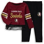 Girls Preschool Garnet/Black Florida State Seminoles Mini Formation Long Sleeve T-Shirt & Pants Set