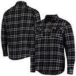 Men's Black USC Trojans Stance Flannel Long Sleeve Button-Up Shirt