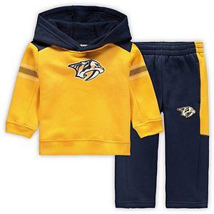 Infant Gold/Navy Nashville Predators Winger Fleece Hoodie and Pants Set