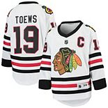 Youth Jonathan Toews White Chicago Blackhawks Away Replica Player Jersey