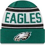 Youth New Era Midnight Green/White Philadelphia Eagles Stated Cuffed Knit Hat