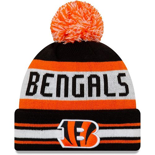 available special sales best choice Men's New Era Black Cincinnati Bengals Jake Striped Cuffed Knit ...