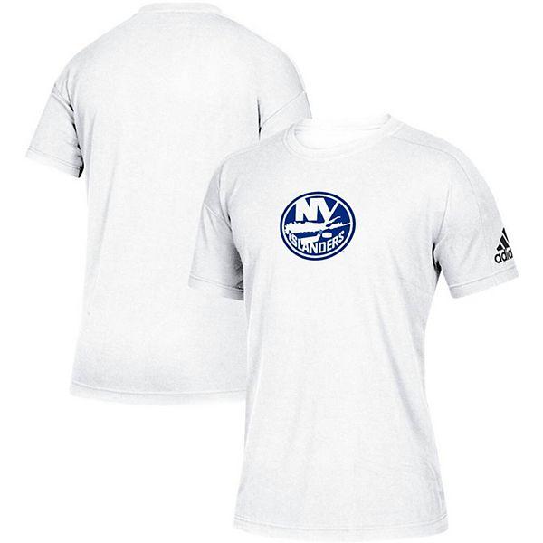 Men's adidas White New York Islanders Stadium ID Tri-Blend T-Shirt