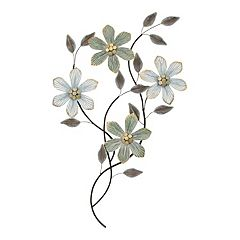 Stratton Home Decor Metal Floral Wall Decor