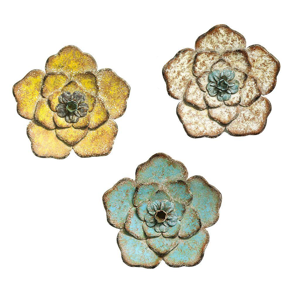 Stratton Home Decor Rustic 3-Piece Flower Set
