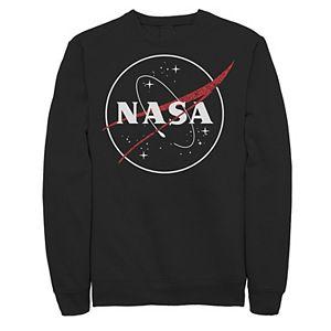 Men's NASA Hollow Circle Logo Graphic Fleece Pullover