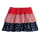 Girls 4-12 Jumping Beans® Tiered Patriotic Skort