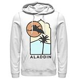 Men's Disney Aladdin Carpet Ride Line Art Logo Hoodie