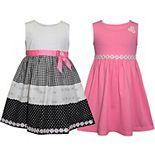 Girls 4-6x Blueberi Boulevard 2-Pack Daisy Dresses