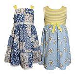 Girls 4-6x Blueberi Boulevard 2-Pack Floral Dresses