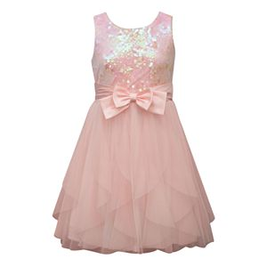 Girls 7-16 Bonnie Jean Sequin & Mesh Dress