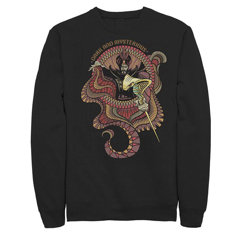 Men's Disney's Aladdin Live Action Jafar Dark & Mysterious Portrait Sweatshirt, Size: XL, Black