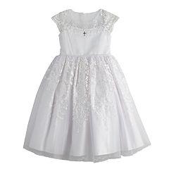 BONNIE JEAN® Little Girl/'s 5 White Flutter Sleeve Float Dress NWT $60