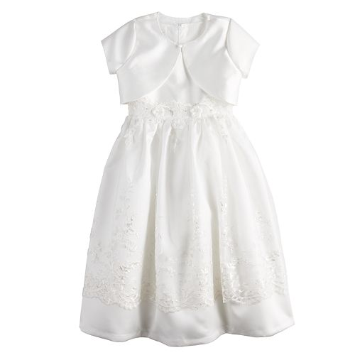 Girls 7-16 & Plus Size Bonnie Jean Scalloped Lace Dress & Cardigan Set