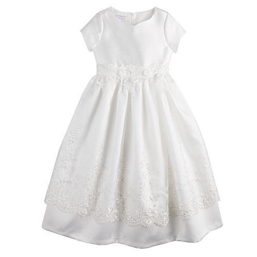 Girls 7-16 & Plus Size Bonnie Jean Scalloped Lace Dress