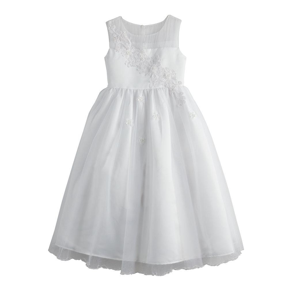 Girls 7-16 Bonnie Jean Applique Pleated Tulle Dress