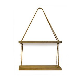 Belle Maison Double Hanging Shelf with Rope