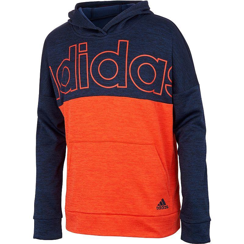 Boys 8-20 adidas Melange Pullover Hoodie, Boy's, Size: Large, Blue